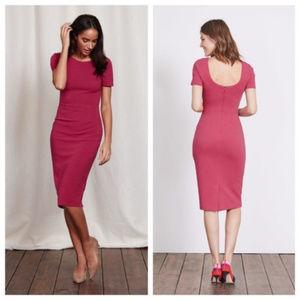 Boden Elsa Ottoman Berry Pink Dress 10L EUC